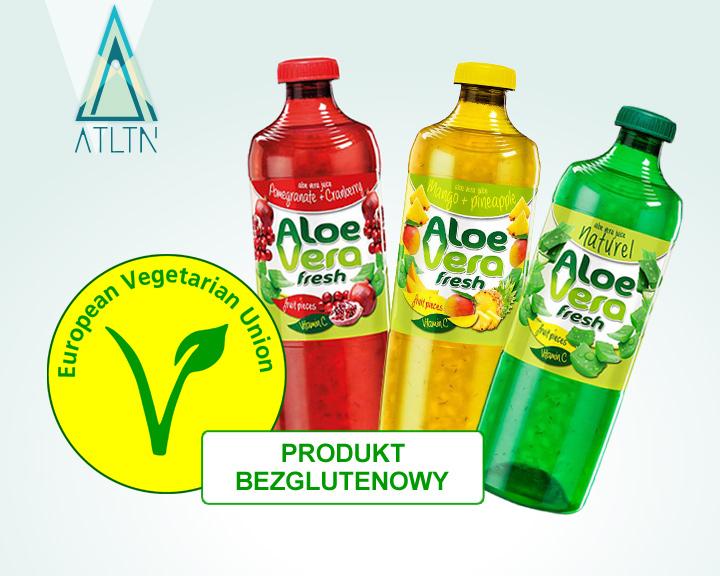 Napoje Aloe Vera Fresh posiadają atest Europejskiej Organizacji Wegetariańskiej EVU SEAL