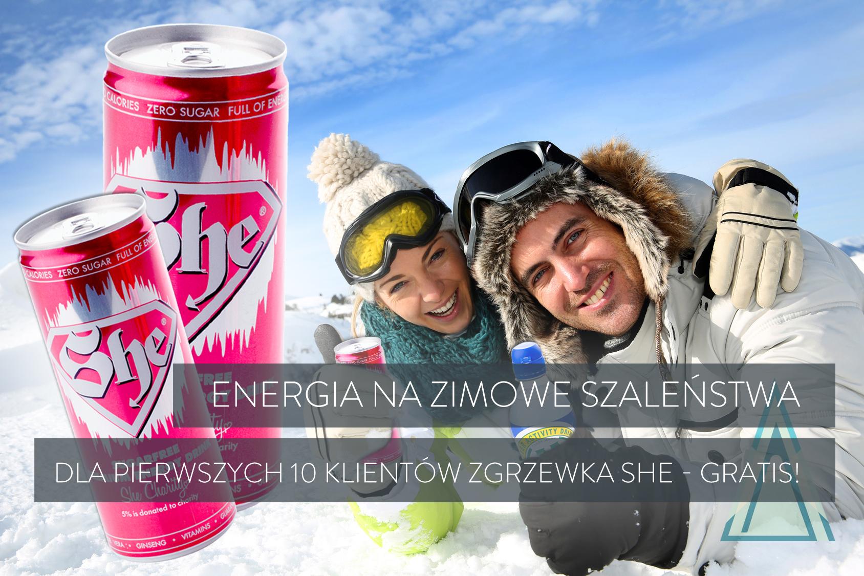 promocja napoju energetycznego SHE